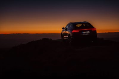 2019 Audi Q8 at sunset