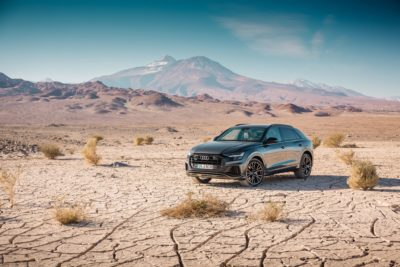 2019 black Audi Q8 in the desert