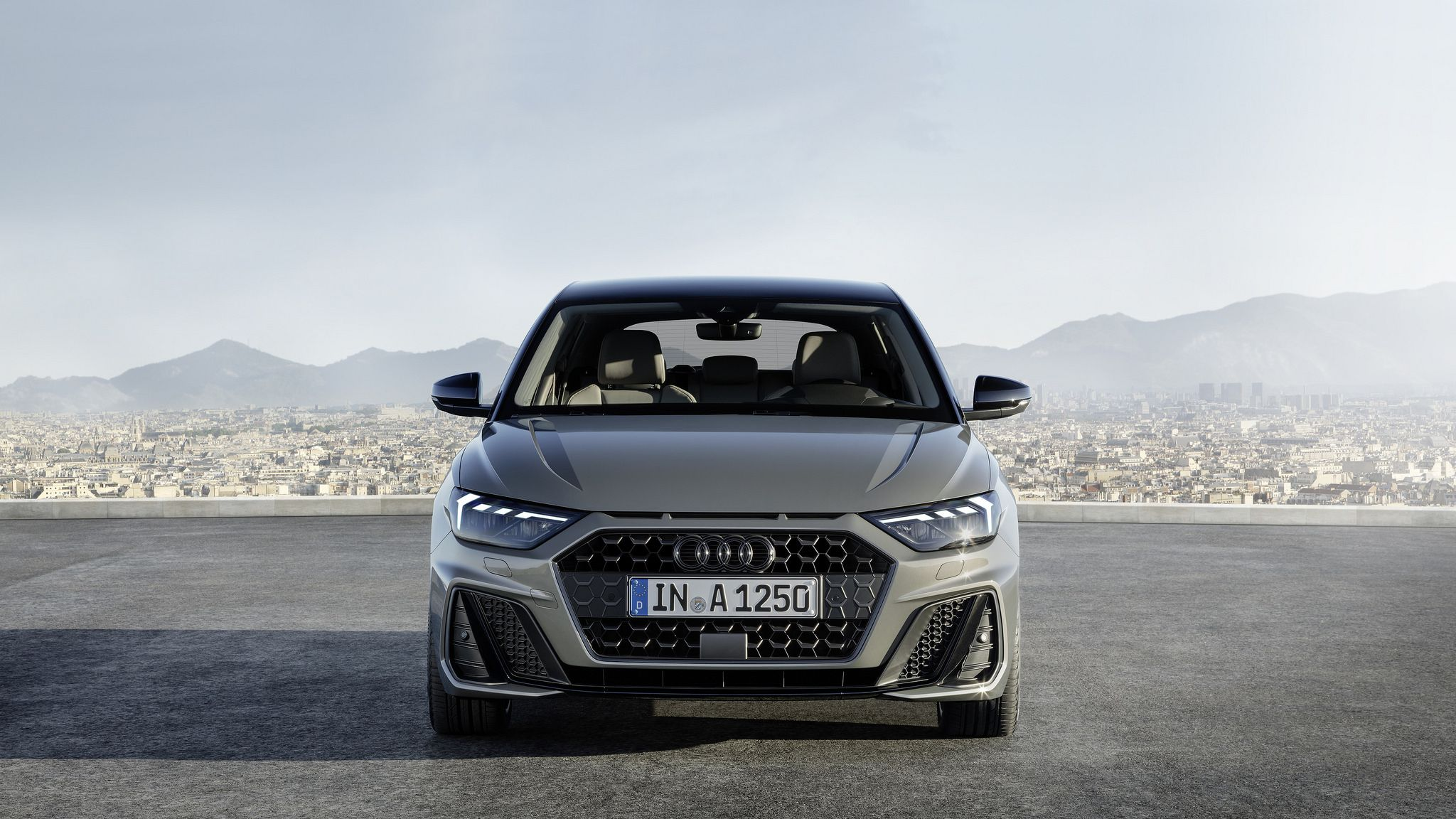 2019 gray Audi A1 Sportback headlights