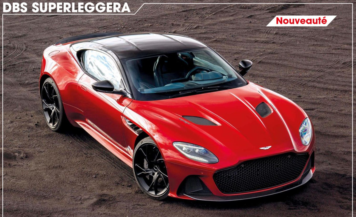 2019 red Aston Martin DBS superleggera