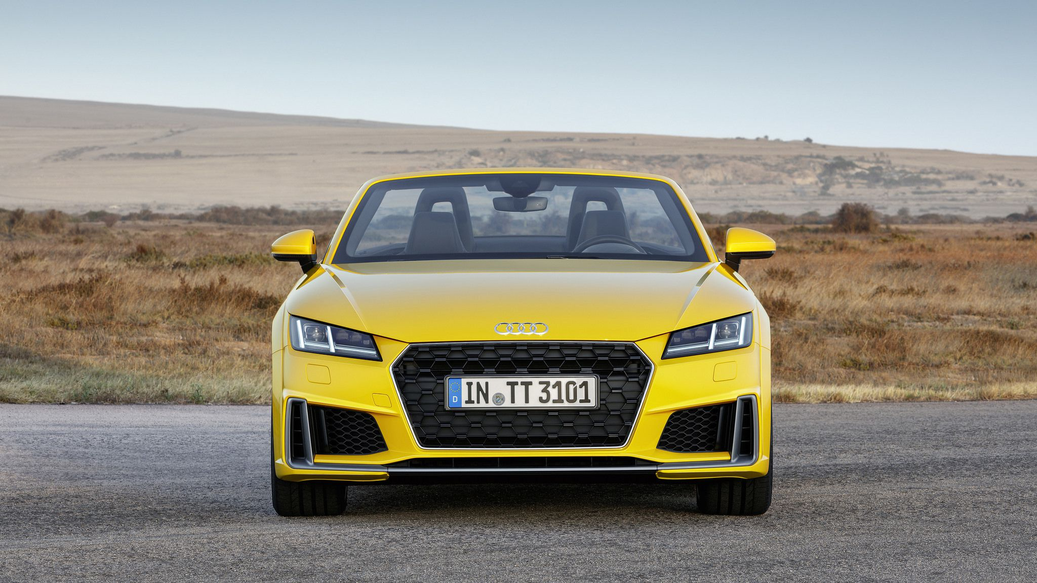2019 yellow Audi TT Roadster 02
