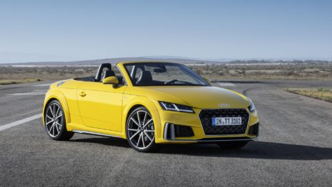 2019 yellow Audi TT Roadster 03