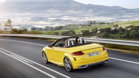 2019 yellow Audi TT Roadster 04