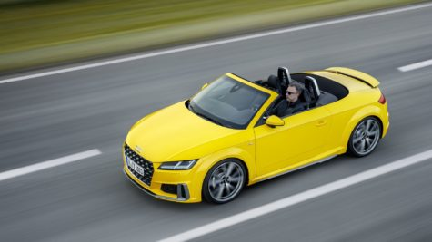 2019 yellow Audi TT Roadster 10