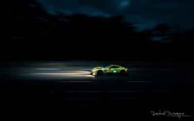 Aston Martin Vantage AMR at night