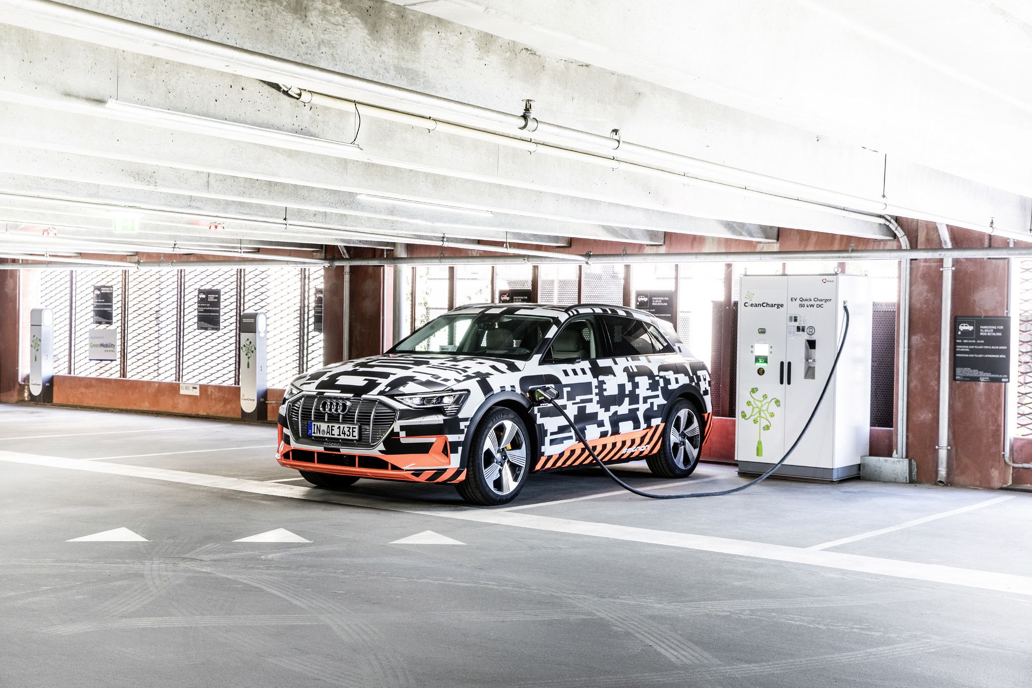 Audi e tron is chargin