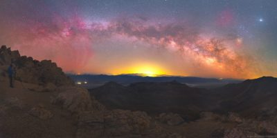 Milky Way in beams of sun