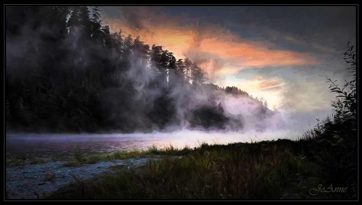 dawn on the Klamath River
