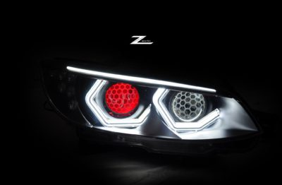 front lights of BMW M3 E92