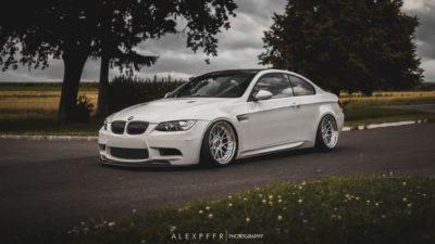 white BMW M3 E92 G Power