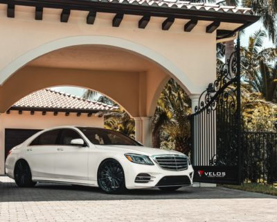 white Mercedes Benz S Class S 450 Sedan 4matic 2018