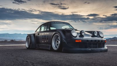 RWB U.S.A – black Porsche (911) 993 on Rotiform MLW wheels