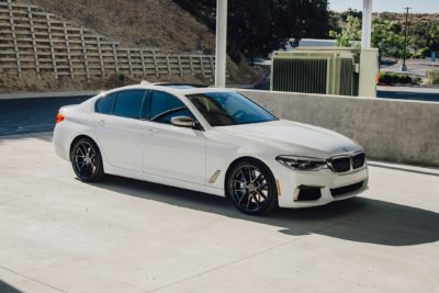 Sedan white BMW M550i G30 5 Series 2018