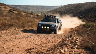 off road suv - dark-grey Nissan Frontier SE in high resolution