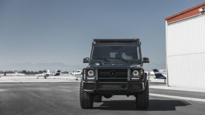Black SUV G-Class on Rotiform CCV-OR wheels - Mercedes-Benz G63 square power