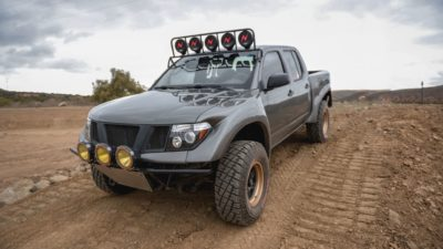 off road suv - dark-grey Nissan Frontier SE exterior