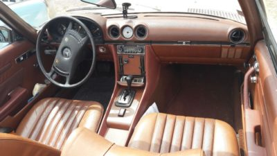 1974 Mercedes Benz 350SL 2dr roadster interior