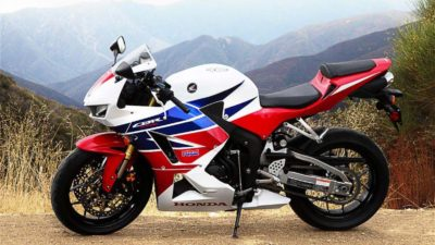 Sportbike - 2013 honda cbr600rr at mountain background
