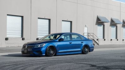 2017 Blue Volkswagen Passat CC R-Line on Rotiform LAS-R wheels