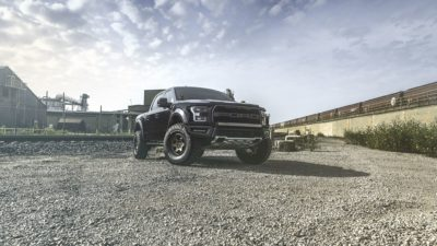 Truck on Rotiform SIX-OR wheels - 2017 black Ford Raptor F-150 in high resolution