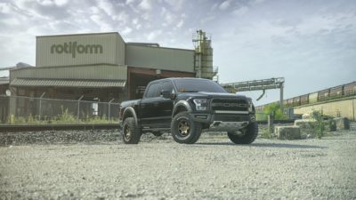 Truck on Rotiform SIX-OR wheels - 2017 black Ford Raptor F-150