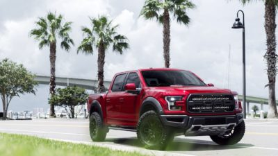 2017 ( red, black ) Ford Raptor F-150 on Rotiform ( SIX-OR, HUR ) wheels