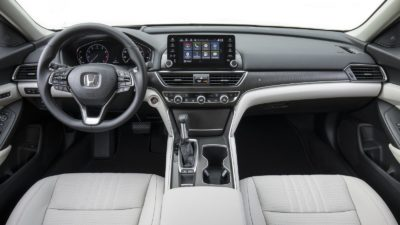 2018 Honda Accord Sport 2.0T sedan white leather interior
