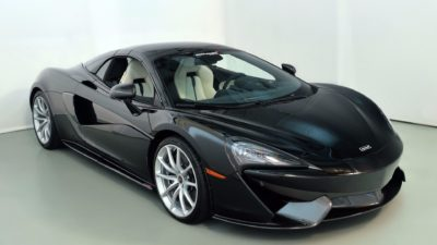 2018 black McLaren 570S coupe