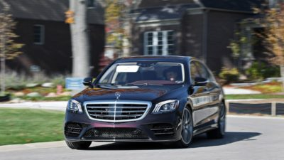 2018 black Mercedes Benz S Class S 450 Sedan