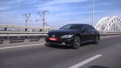 VW 5dr sedan - 2018 black Volkswagen Arteon