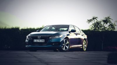 2018 blue Honda Accord Touring sedan