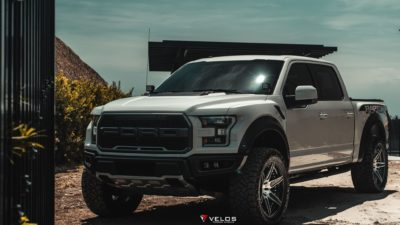 2018 grey Ford Raptor F 150 Biturbo by Velos