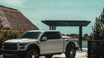 2018 grey Ford Raptor F 150 Biturbo on Velos VSS S6