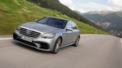 2018 grey Mercedes Benz S Class S 450 Sedan