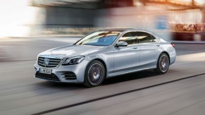 2018 grey blue Mercedes Benz S Class S 450 Sedan