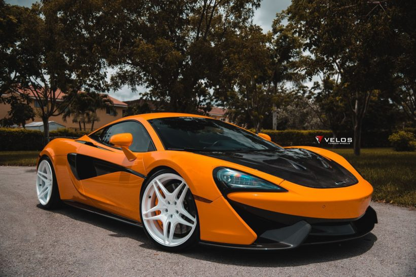2018 orange McLaren 570S coupe