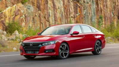 2018 red Honda Accord Sport 2.0T