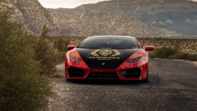 Goldrush Rally - 2018 red Lamborghini Huracan LP 610-4 front view