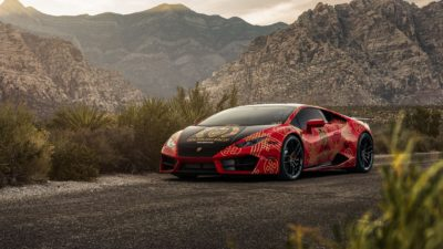 2018 Red Lamborghini Huracan LP 610-4 in Goldrush Rally