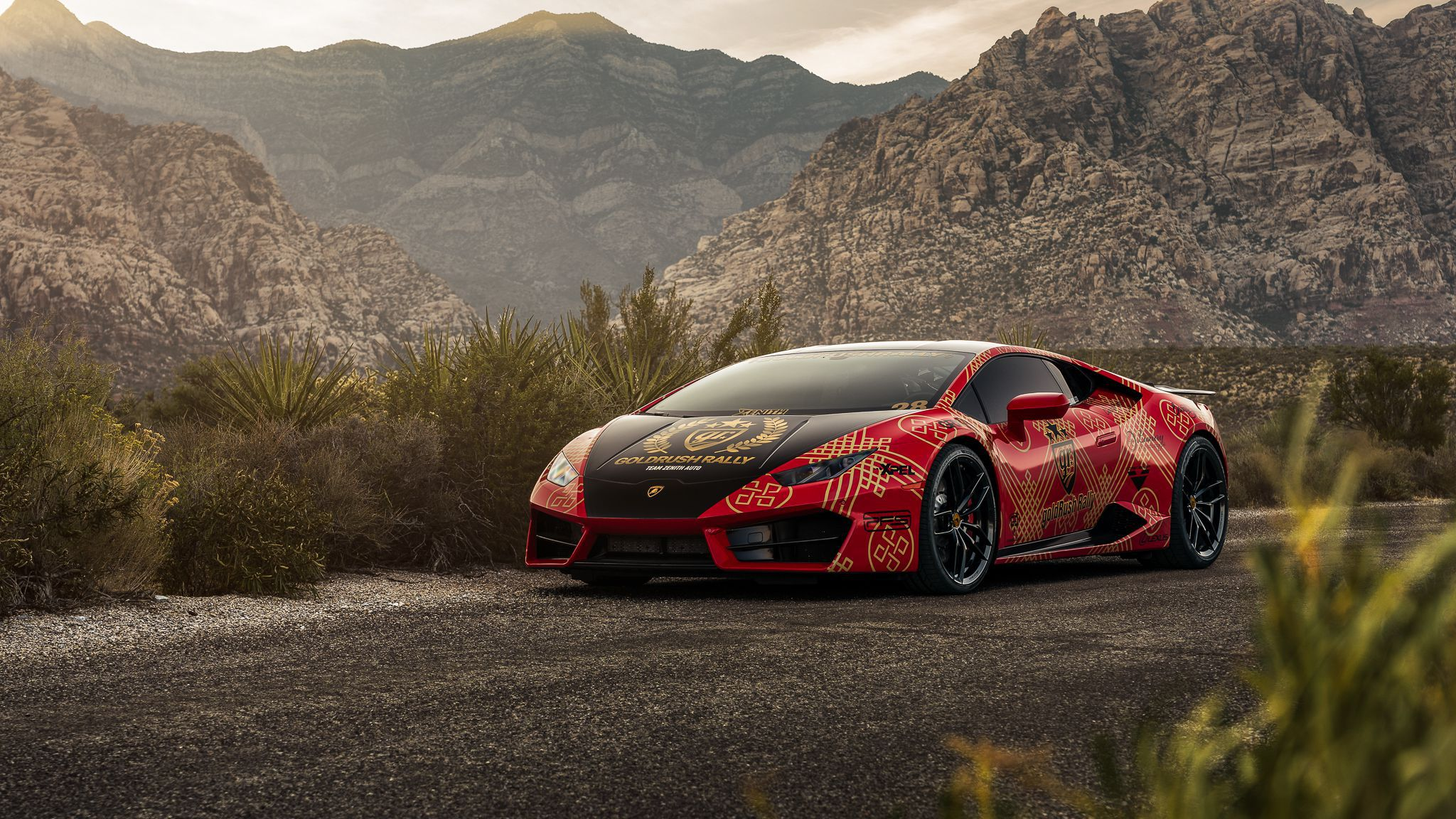 Goldrush Rally - 2018 red Lamborghini Huracan LP 610-4 exterior