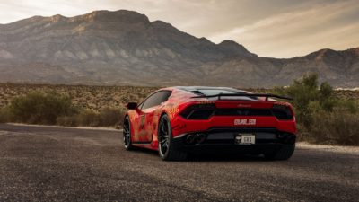 Goldrush Rally - 2018 red Lamborghini Huracan LP 610-4 rear bumper