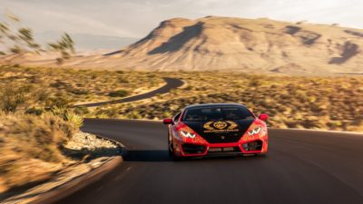 Goldrush Rally - 2018 red Lamborghini Huracan LP 610-4 in high quality
