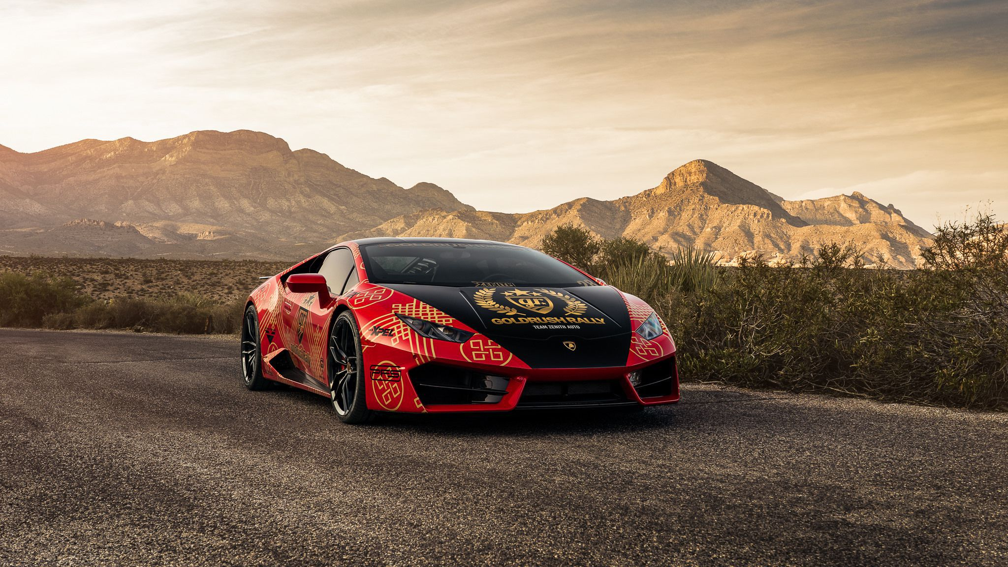 Goldrush Rally - 2018 red Lamborghini Huracan LP 610-4 HD image