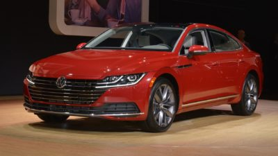 2018 red Volkswagen Arteon 5dr sedan