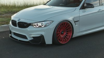 Rotiform LAS-R wheels 2018 white BMW M3 F80 angel eyes headlights