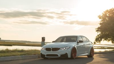 Rotiform LAS-R wheels - 2018 white BMW M3 F80