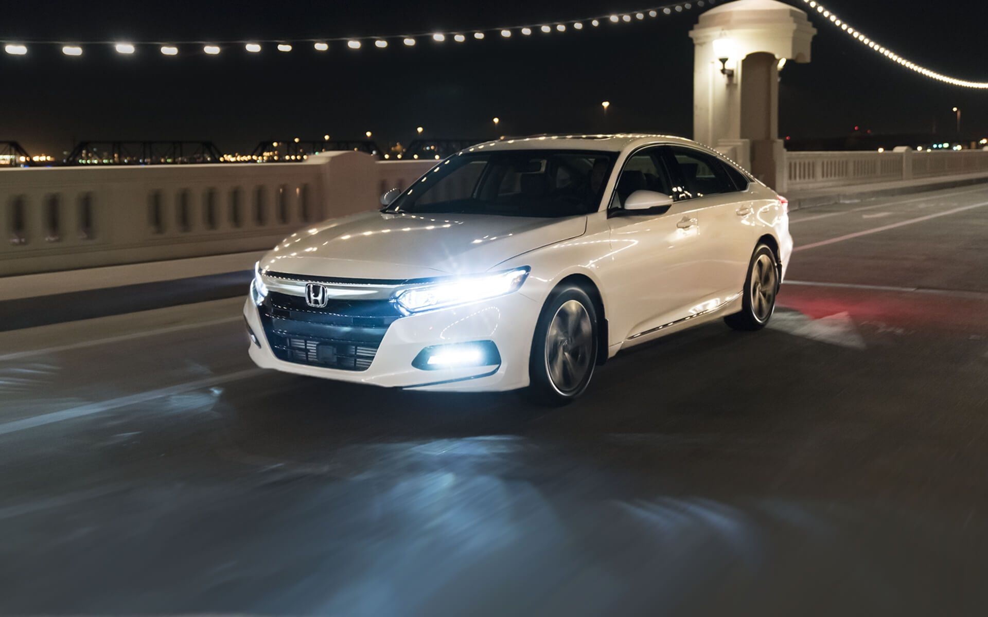 2018 Honda Accord >> 2018 white Honda Accord Sport 2.0T at night - HD Image #13 on WallpapersQQ