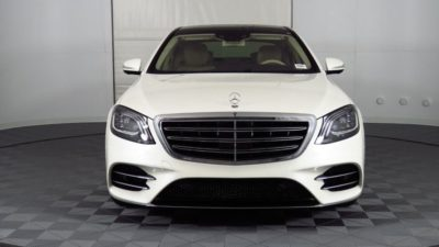 2018 white Mercedes Benz S Class S 450 Sedan