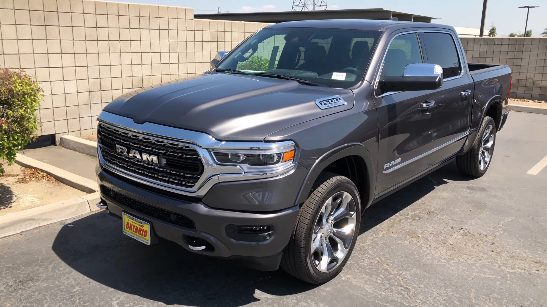 2019 dark grey Dodge Ram 1500 Limited