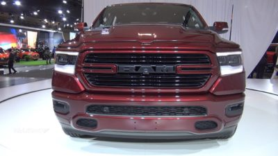 2019 dark red Dodge Ram 1500 Laramie